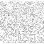 Гигантские раскраска для детей Космос 120*85