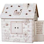 Картонный игровой домик раскраска с Английским алфавитом